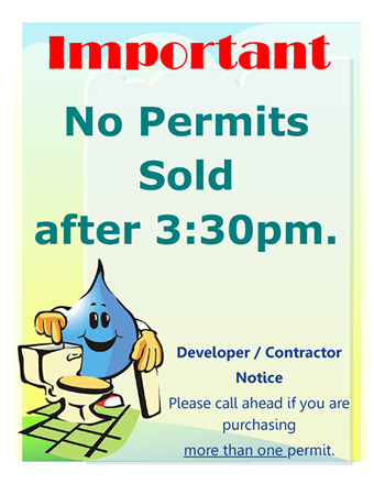 No permits sold after 3:30 PM